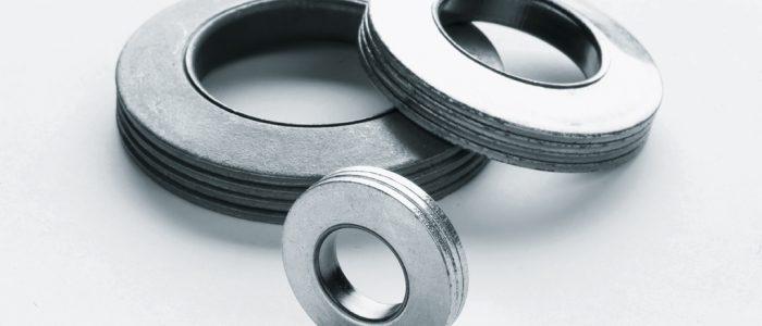 Rondelles Trep Gris Découpage à 3 ou 4 éléments assemblés par un serti en laiton. Principalement utilisées dans le secteur du ferroviaire